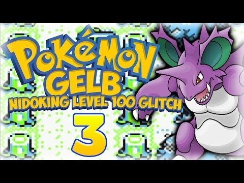Let's Play Pokémon Gelb Part 3: Level 100 Nidoking Glitch