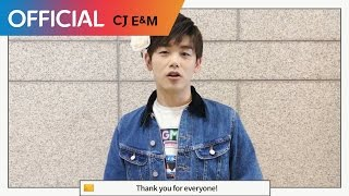 Eric Nam's thanks message for ending his 'Good For You' album