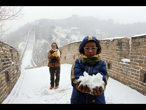 Great Wall of China - Hiking in Winter