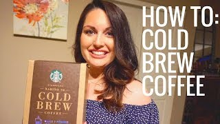 DIY - Cold Brew Coffee JUST LIKE STARBUCKS!!