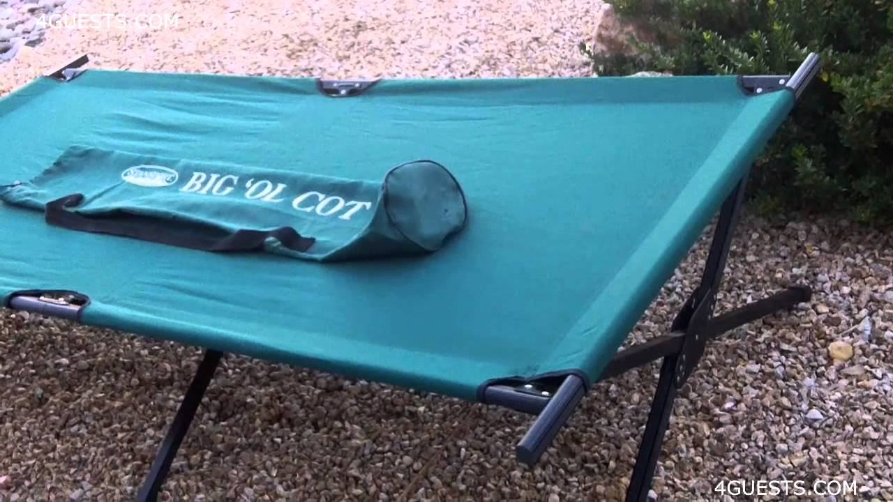 CAMPING COT ~ STANSPORT BIG OL COT ~ BUGGING OUT GEAR - YouTube