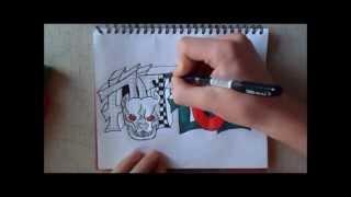 Обучение граффити на бумаге PITBULL 1