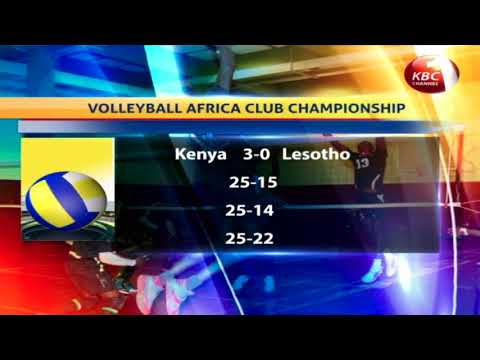 Kenya Prisons men's team beats Red Skins of Lesotho by three straight sets