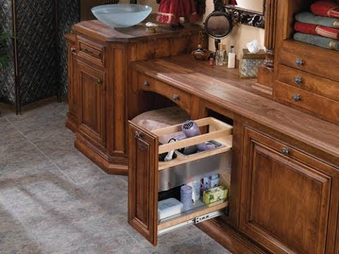 Bathroom vanity organizers youtube for Pull out shelves for bathroom vanity