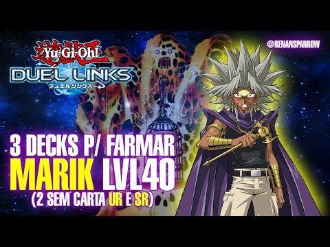 3 DECKS P/ FARMAR MARIK lvl 40 (2 sem carta UR e SR) - Yu-Gi-Oh! Duel Links #100