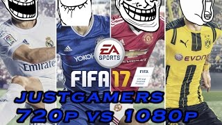FIFA 17 Graphics Comparison 720p vs 1080p
