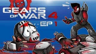 ŞİMDİYE kadar 4 Gears of War - en İYİ PROLOGUE!!!!! Cartoonz EP (Co-op Kampanya). 1