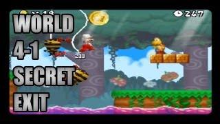New Super Mario Bros DS World 4-1 Secret Exit