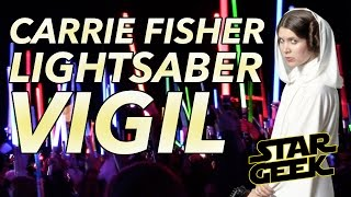 Carrie Fisher Lightsaber Vigil/Tribute - Fisher Pavilion SEATTLE - Star Geek