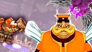 🐾 Угрозы Шера с планеты зомби Лунтика. Пожарный против демонов # 7. Мультфильм ИГРА.