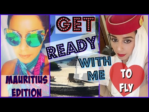 GRWM To Fly ! ✈ MAURITIUS EDITION | Emirates Cabin Crew | Yas & Nab