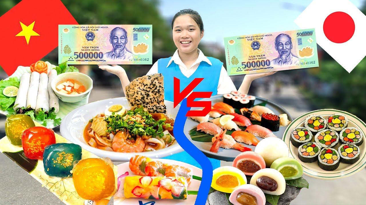 Làm 500k Đồ Ăn Nhật Bản ❤ 500k Đồ Ăn Việt Nam ❤ Trang Vlog