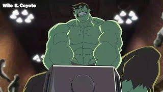 Hulk Intenta Levantar el Martillo de Thor ♦ Los Vengadores Unidos T01E02 ♦ Español Latino