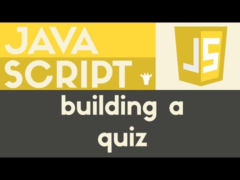 Building A Multiple Choice Quiz | Javascript | Tutorial 24