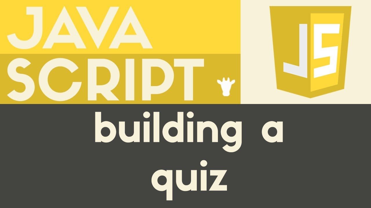 Building a Multiple Choice Quiz | Javascript | Tutorial 24