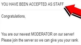 OMG I GOT THE JOB AS MODERATOR ON THE SERVER