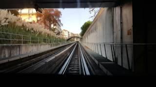 No metrô de Lausanne Suíça