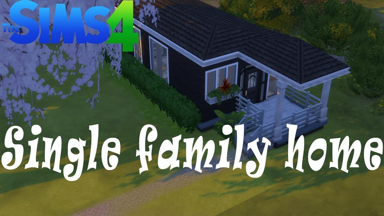 The sims 4 house building single person home youtube for Single person house