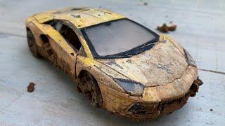 Restoration Damaged Lamborghini Supercar | Restore Old Rusty supercar Aventador model