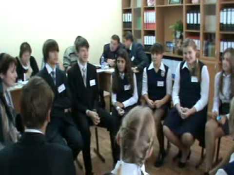 Солсанова Х Л Беседа с учениками Конкурс Учитель года 2011 ...