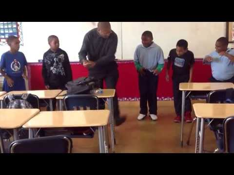 Watts Learning Center- boot Dance with Mr. Mabowe (4th grade)