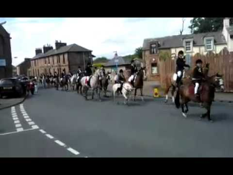 Annan Horses Riding of the Marches 2012 Scotland