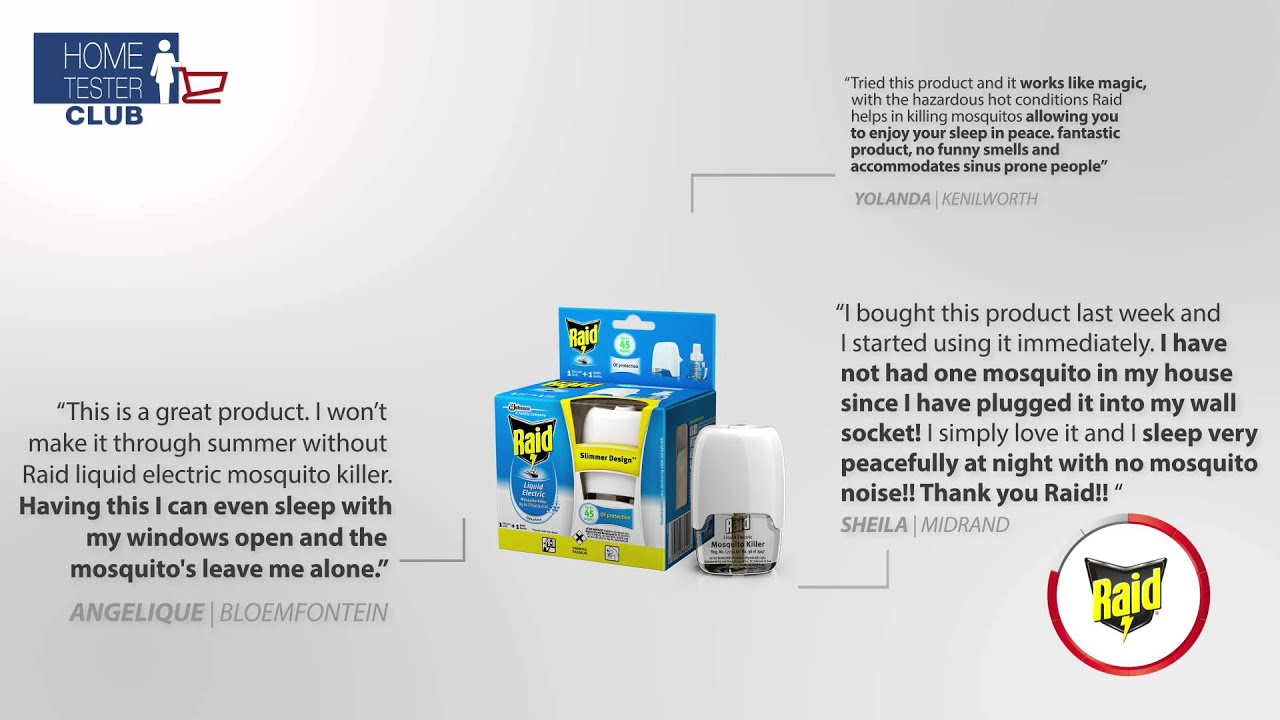 Raid Liquid Electric Mosquito Killer REVIEWS Home Tester Club - YouTube for Homemade Mosquito Killer  51ane
