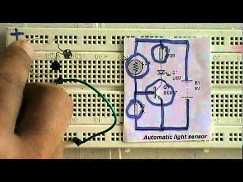 light sensor making steps- www.buildcircuit.com - YouTube