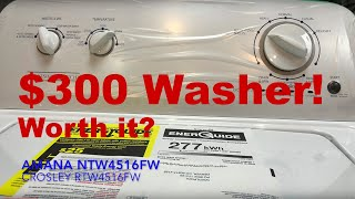REVIEW: Does the $300 Washer Actually Work? Amana NTW4516FW and Conservator VAW3584GW