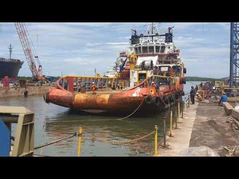 Docking Process AHTS Swiber Venture | Vallianz Offshore