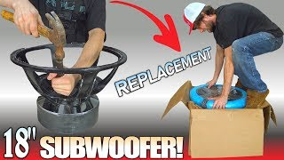 "EXTRA 18"" SUBWOOFER & Car Audio UPDATES! Replacing BASKET 