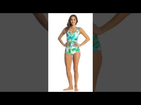 Maxine Palm Beach Girl Leg One Piece Swimsuit | SwimOutlet.com