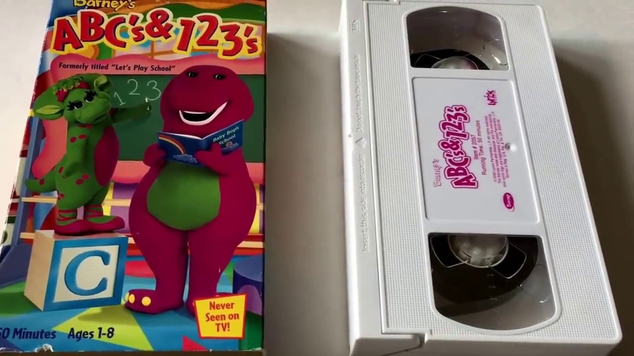 Barney Abc 123 Video Barney Friends Vhs Movie Collection