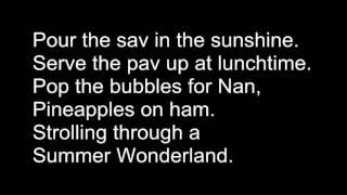 Summer Wonderland Lyrics (Air NZ & Ronan Keating)