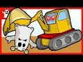 Igo Friendly Ghost and Excavator Truck Toy Build House  Cartoon for kids