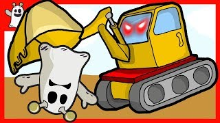 Igo Friendly Ghost and Excavator Truck Toy Build House Construction Vehicles for Kids Cartoon