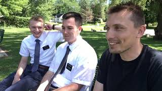Let's stop a couple Mormon missionaries and ask some questions!