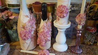 Декор бутылки шампанского на свадьбу ✔ Marine DIY Guloyan✔