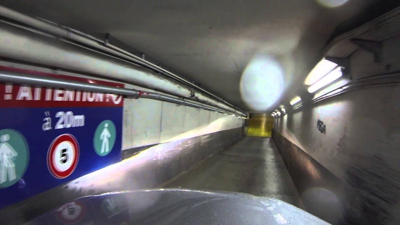 Garage Parking Stop >> Going into a tight underground parking garage in Paris ...