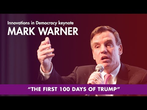 Innovations in Democracy Featuring Senator Mark Warner - 2017 Tom Tom Founders Festival