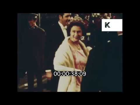 1970 UK, Queen Elizabeth II arrives at Odeon Leicester Square