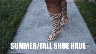 SUMMER/FALL SHOE HAUL TRY ON 2016 + GIVEAWAY