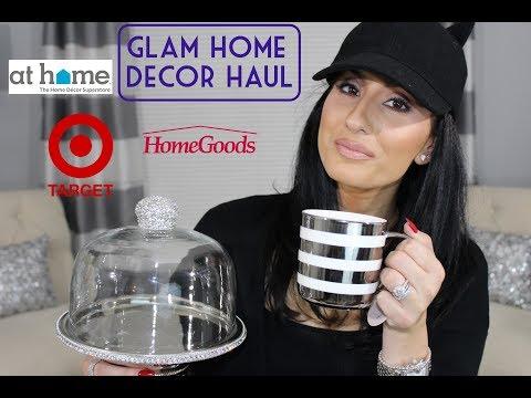 GLAM HOME DECOR HAUL - HOMEGOODS, TARGET, AT HOME