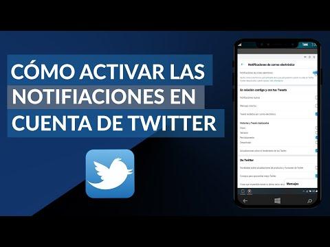 Cómo Activar las Notificaciones de una Cuenta de Twitter en mi PC