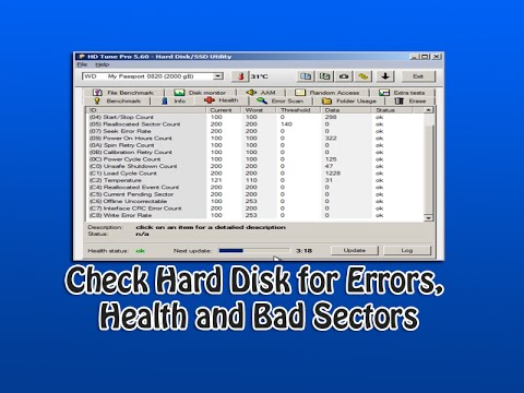 Check Hard Disk for Errors, Health and Bad Sectors