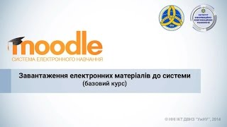Завантаження електронних матеріалів з навчального курсу до системи Moodle