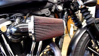 Screaming Eagle Heavy Breather Servicing   K&N Clean & Recharge   Iron 883 Sportster Build Ep. 02