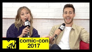 The CW's 'Supergirl' Cast Musical Recap of Season 2 | Comic-Con 2017 | MTV