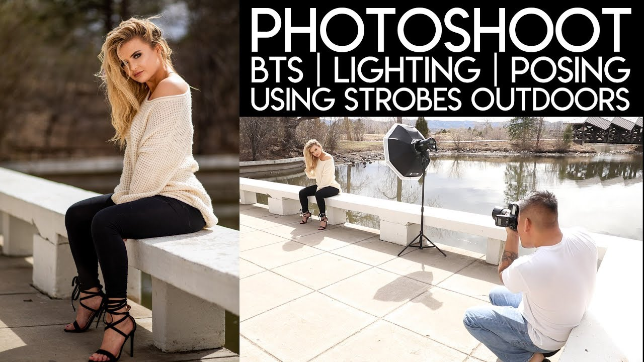 Photoshoot Bts Using Strobes How To Use Lights Model Interaction