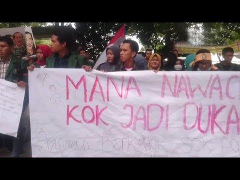 Tiga Tahun Kepemimpinan Jokowi JK, Mahasiswa USU Gelar Demo Sampaikan Tujuh Tuntutan